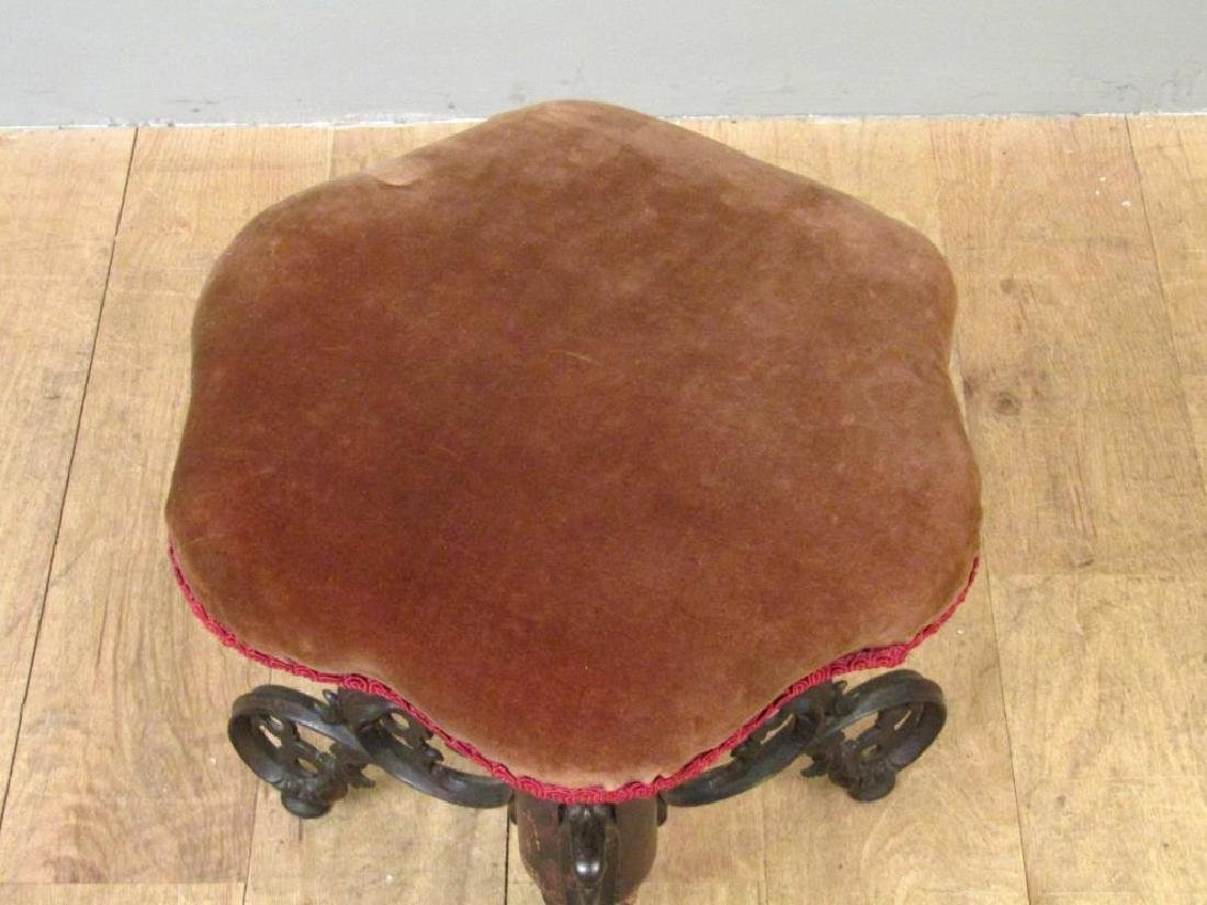 Victorian Upholstered Piano Stool - 3