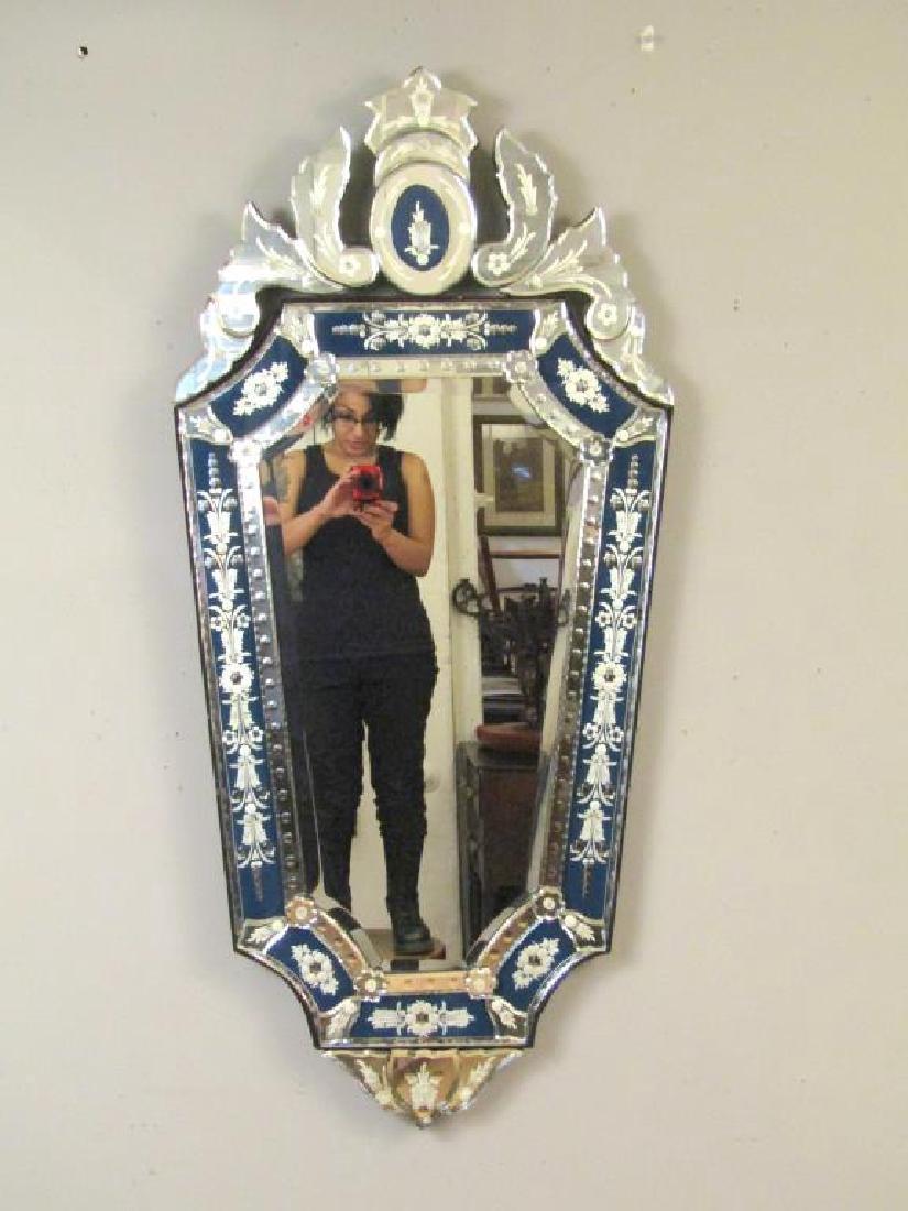 Venetian Blue Framed Mirror