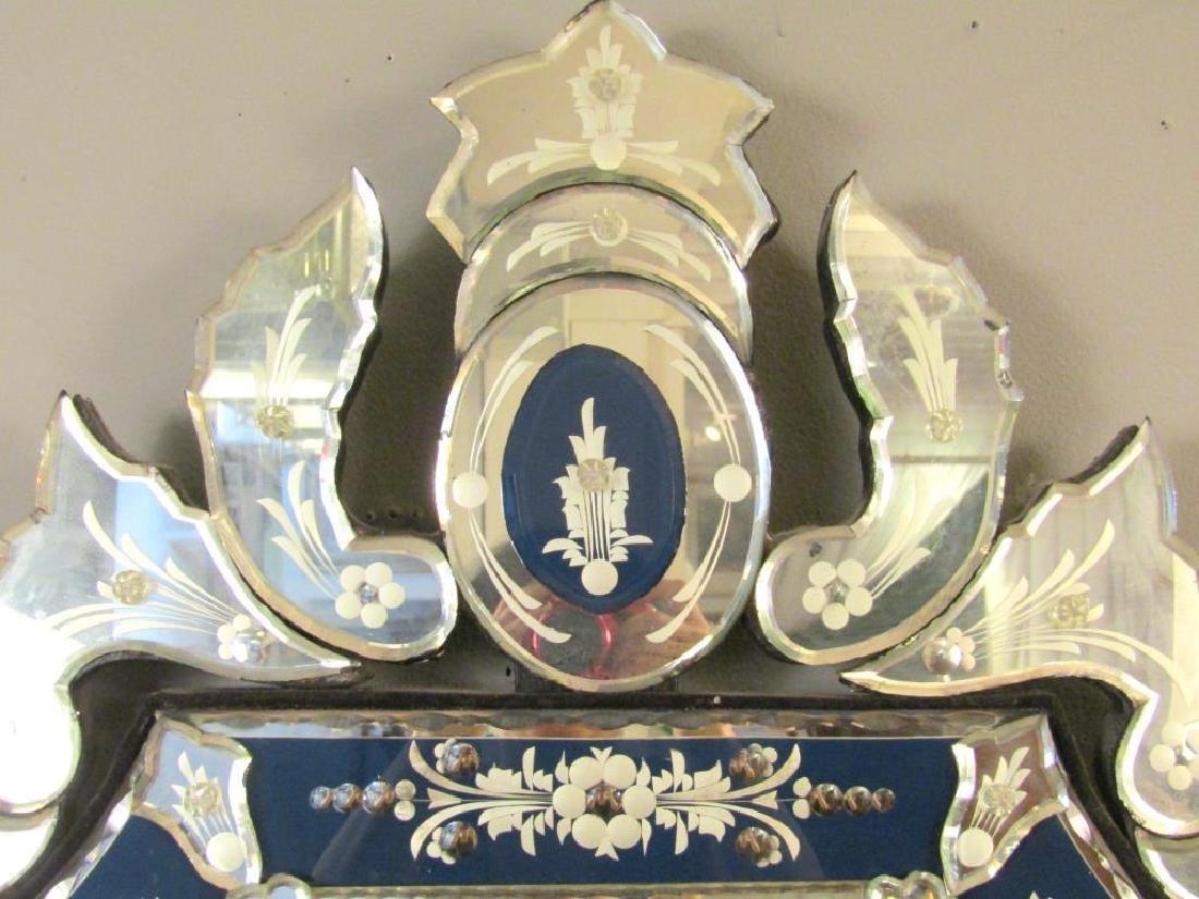 Venetian Blue Framed Mirror - 2