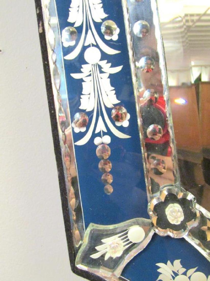 Venetian Blue Framed Mirror - 3