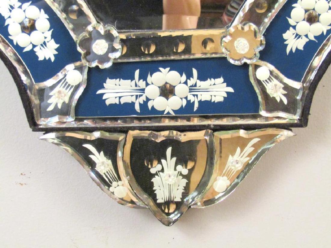 Venetian Blue Framed Mirror - 4