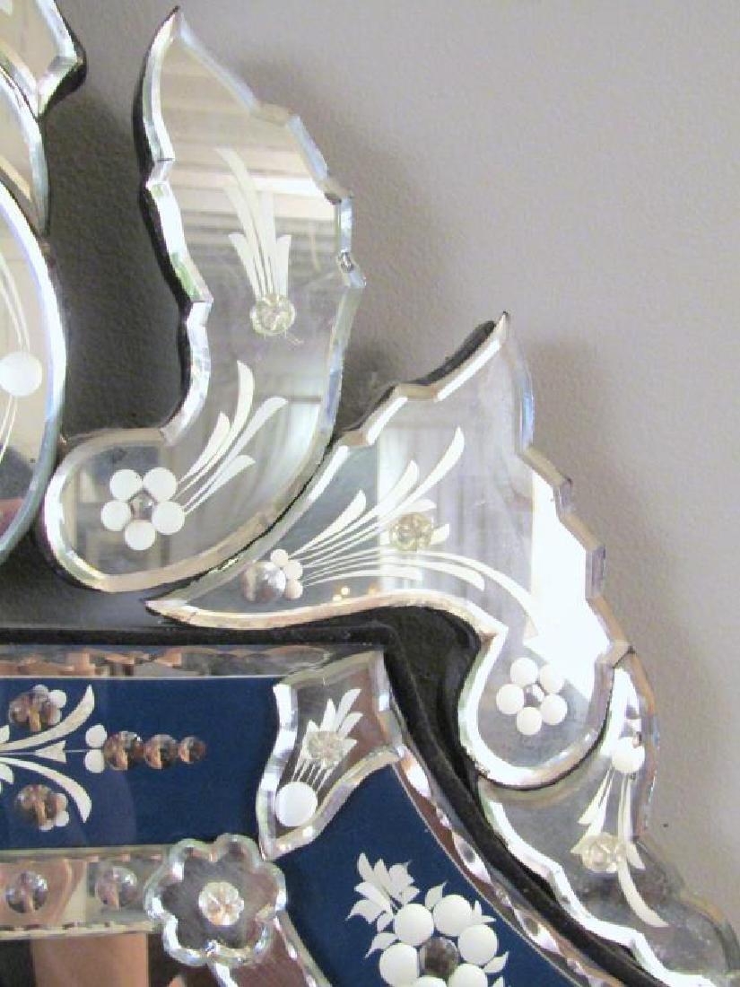 Venetian Blue Framed Mirror - 5