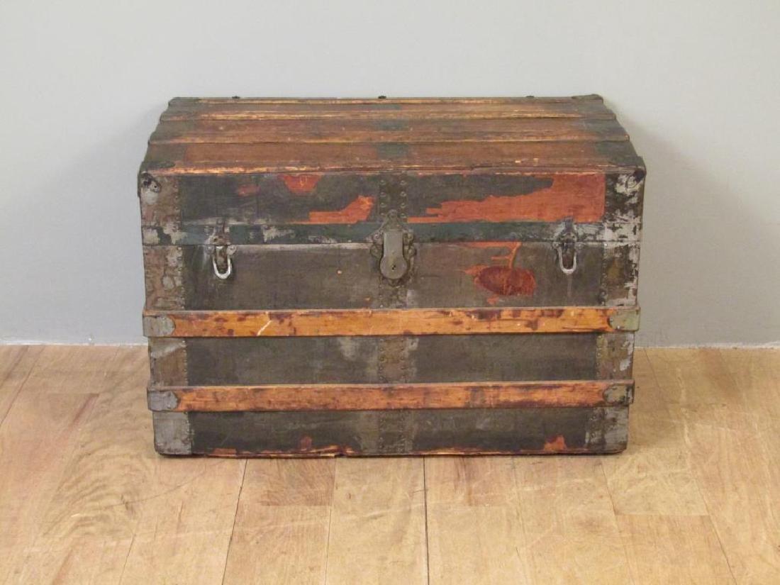 Vintage Wood and Metal Steamer Trunk