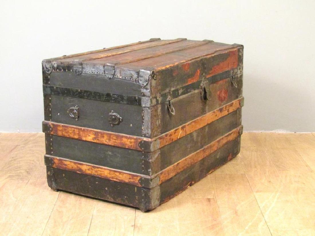 Vintage Wood and Metal Steamer Trunk - 2