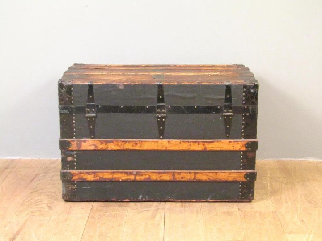 Vintage Wood and Metal Steamer Trunk - 3