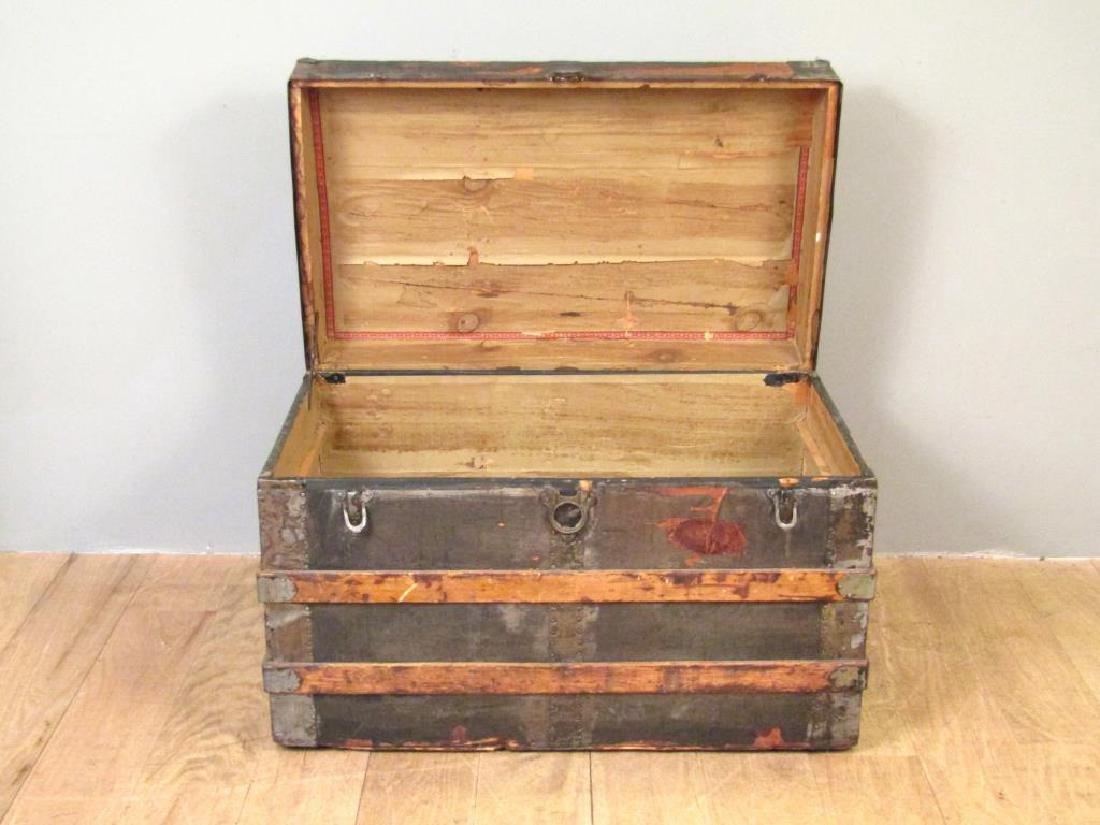 Vintage Wood and Metal Steamer Trunk - 6