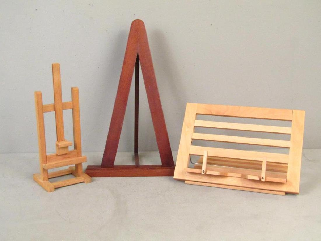 2 Easels and One Book Stand