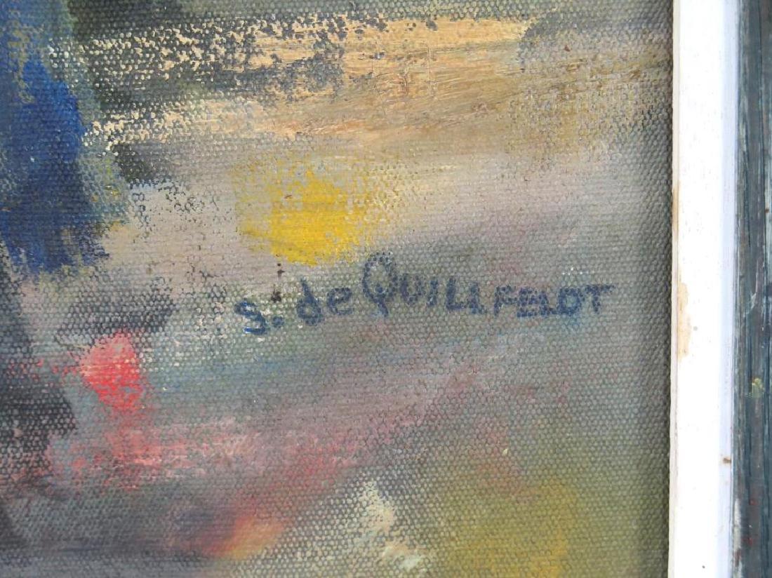 Signed S. de Quillfeldt- Oil on Canvas - 3