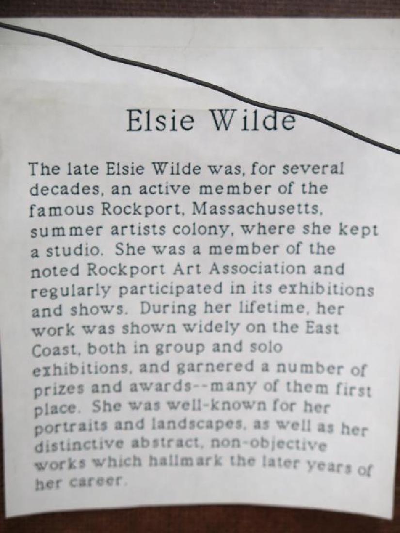 Elsie Wilde (American, XX)- Oil on Canvas - 5