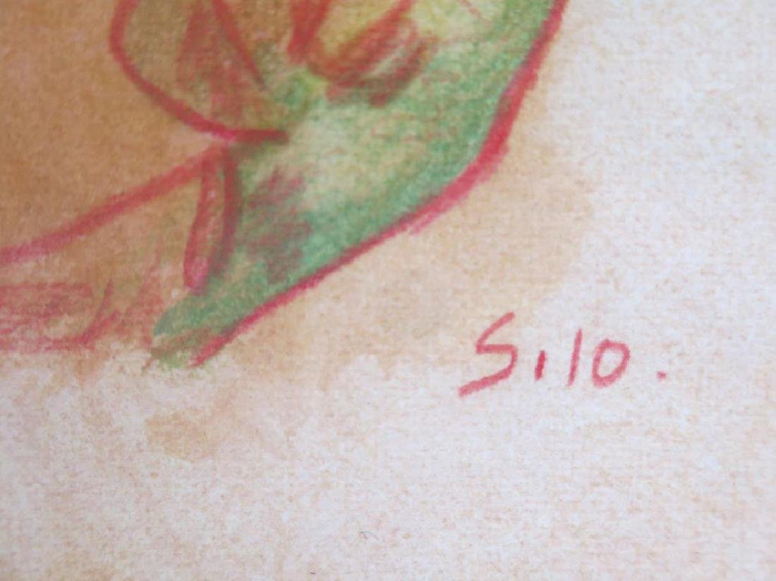 Signed Silo- Mixed Media on Paper - 4