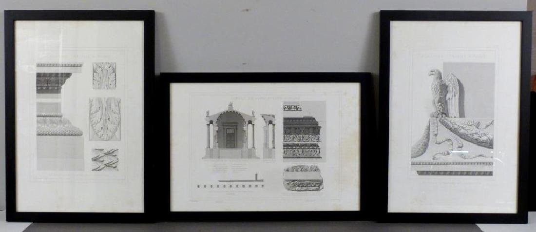 3 Architectural Prints of Roman Ruins