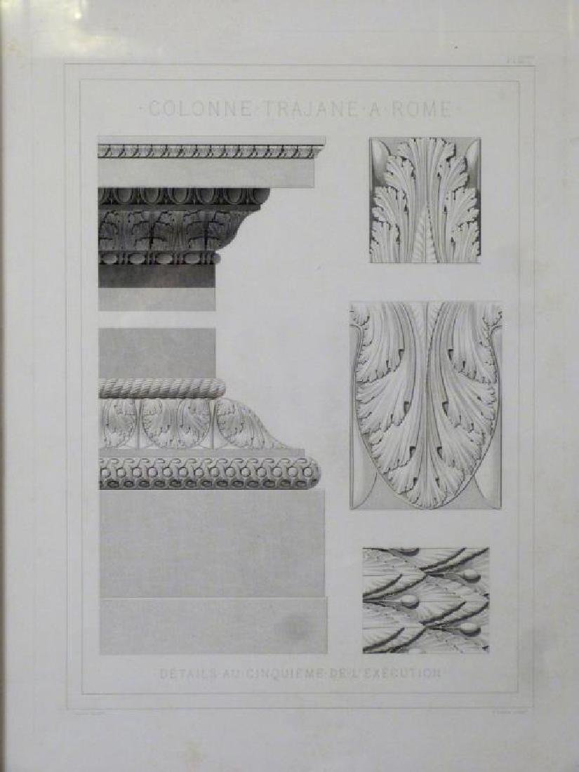 3 Architectural Prints of Roman Ruins - 2