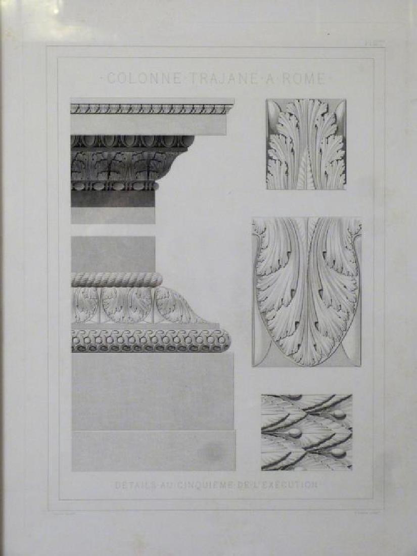 3 Architectural Prints of Roman Ruins - 2