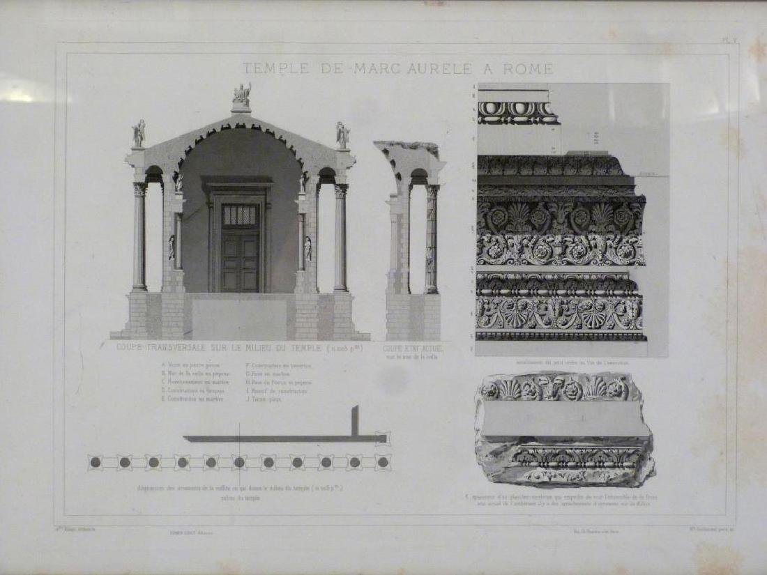 3 Architectural Prints of Roman Ruins - 4