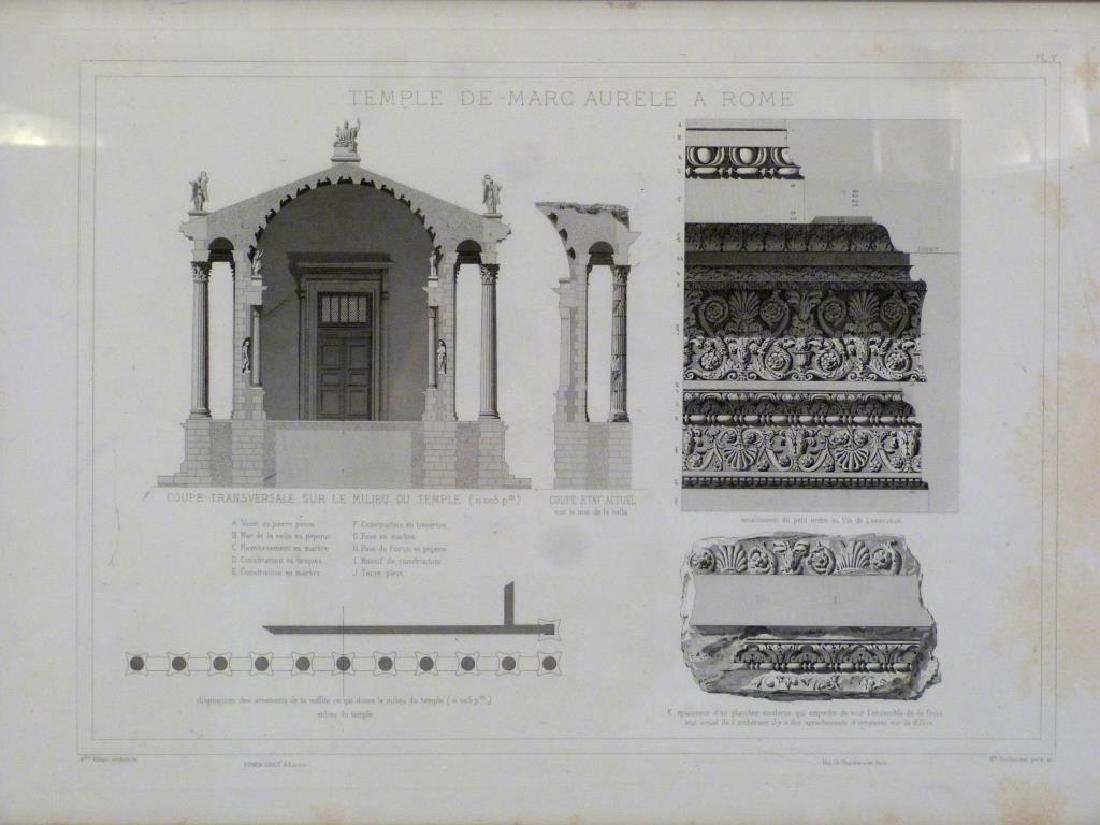 3 Architectural Prints of Roman Ruins - 4