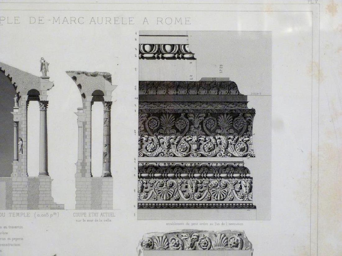 3 Architectural Prints of Roman Ruins - 5