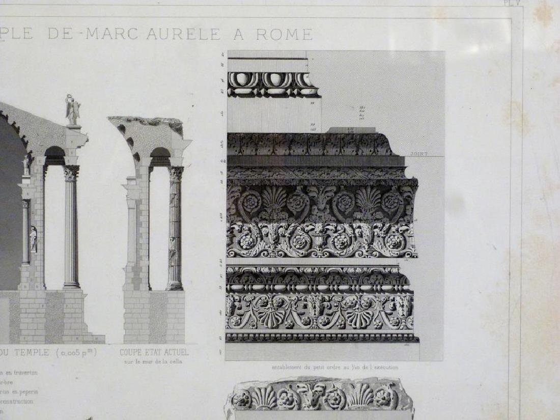 3 Architectural Prints of Roman Ruins - 5