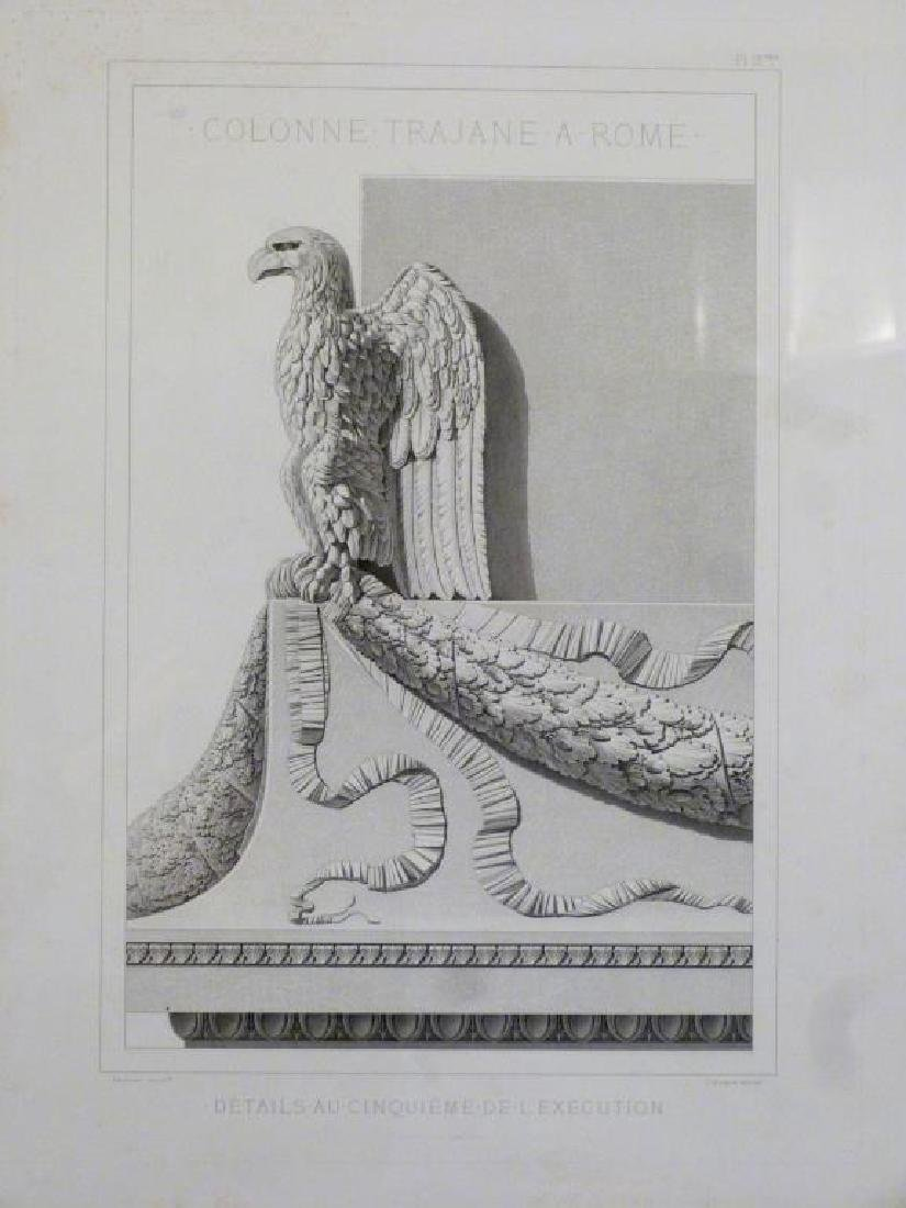 3 Architectural Prints of Roman Ruins - 6