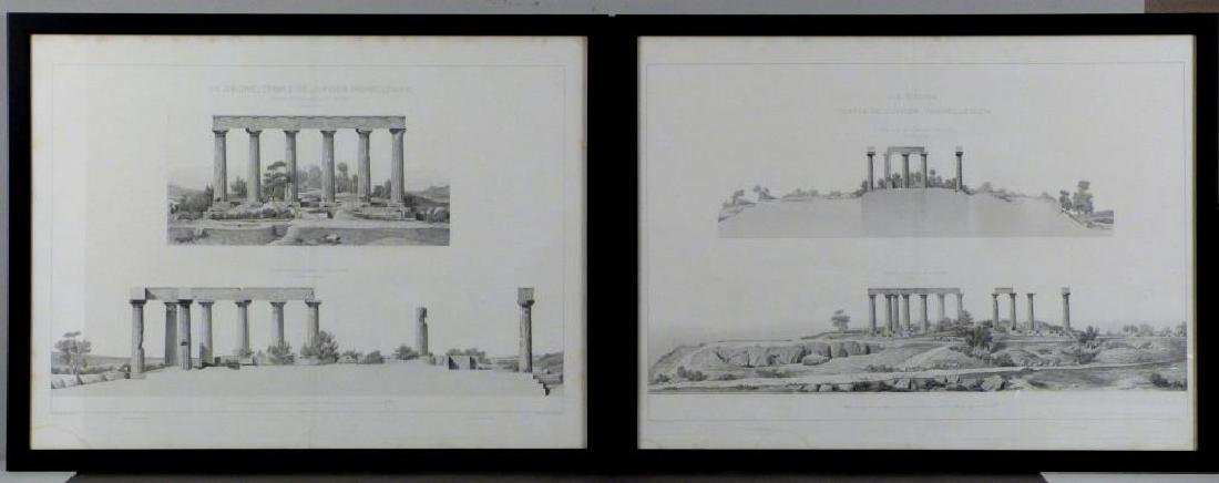 2 Architectural Prints of Roman Ruins
