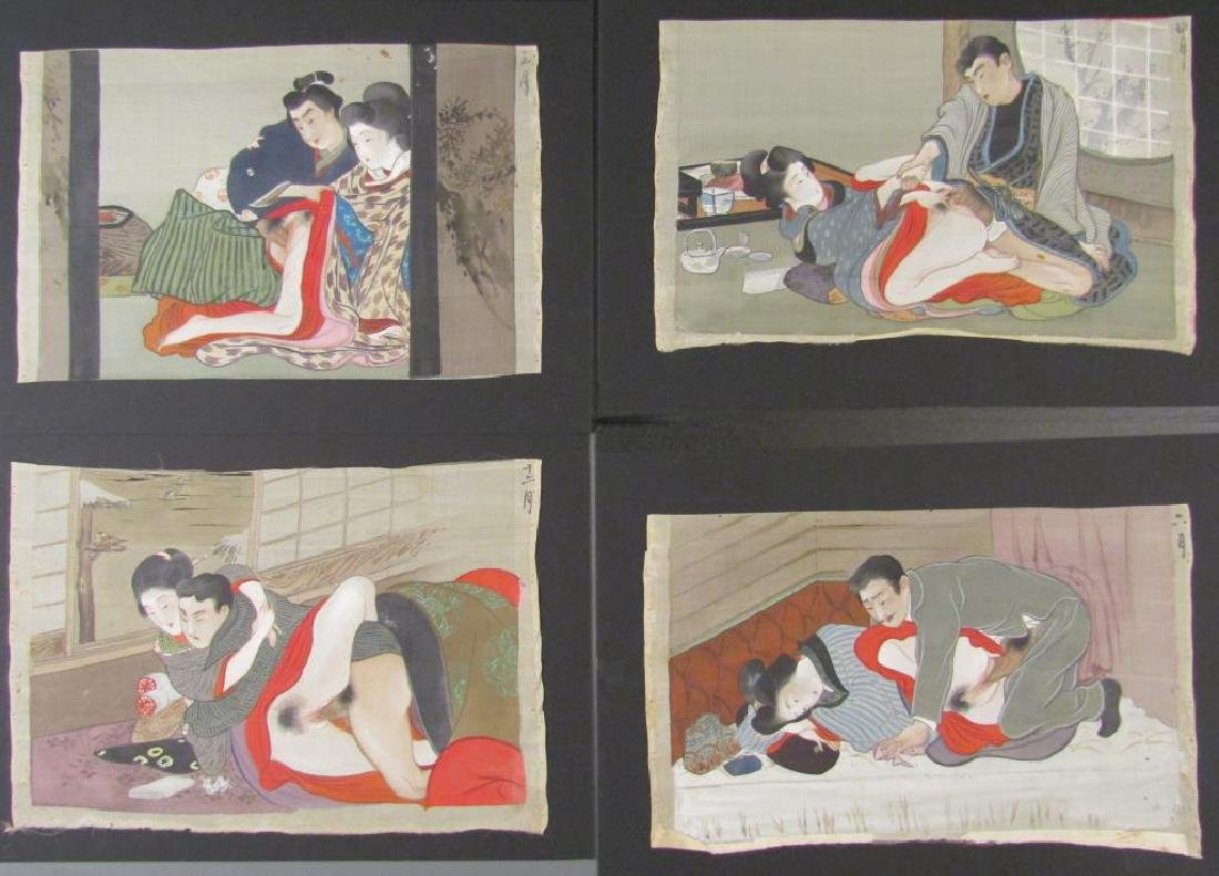 Set of 7 Japanese Shunga Prints - 2