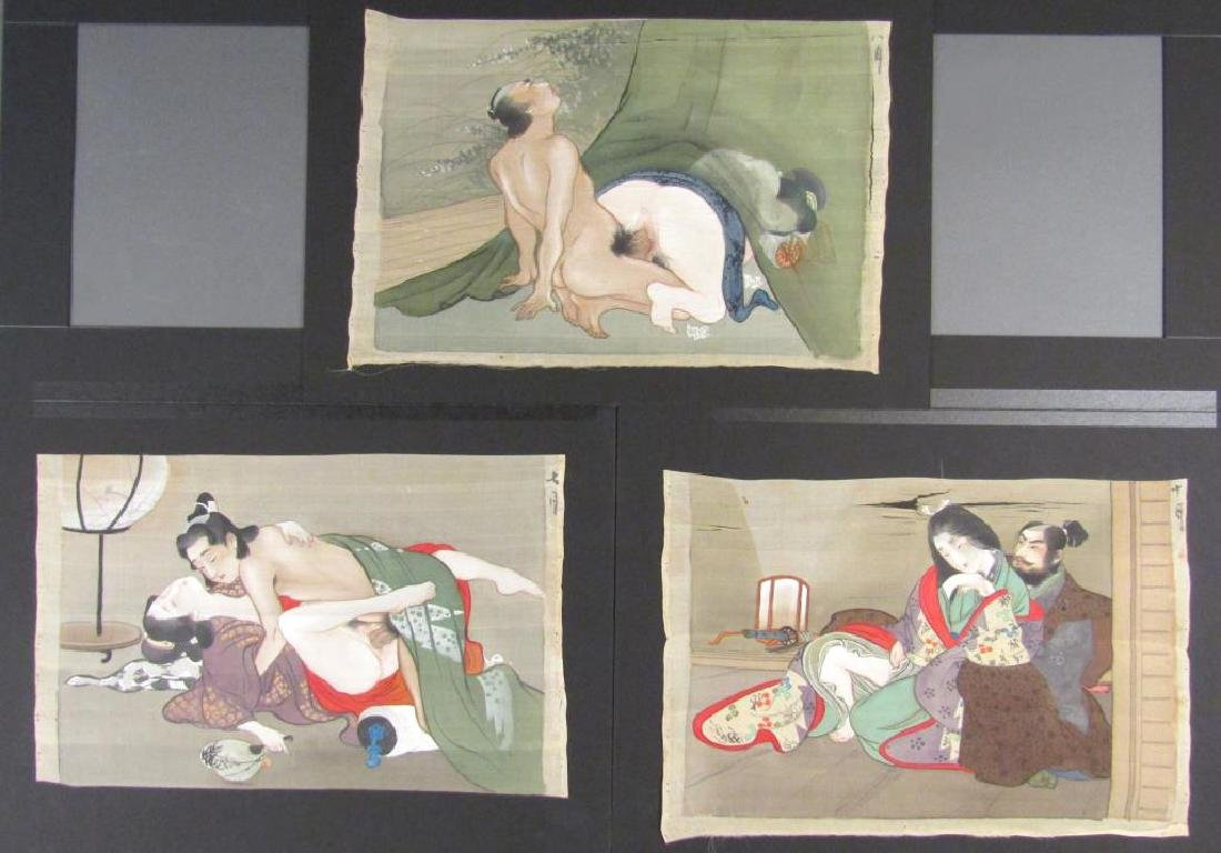 Set of 7 Japanese Shunga Prints - 3
