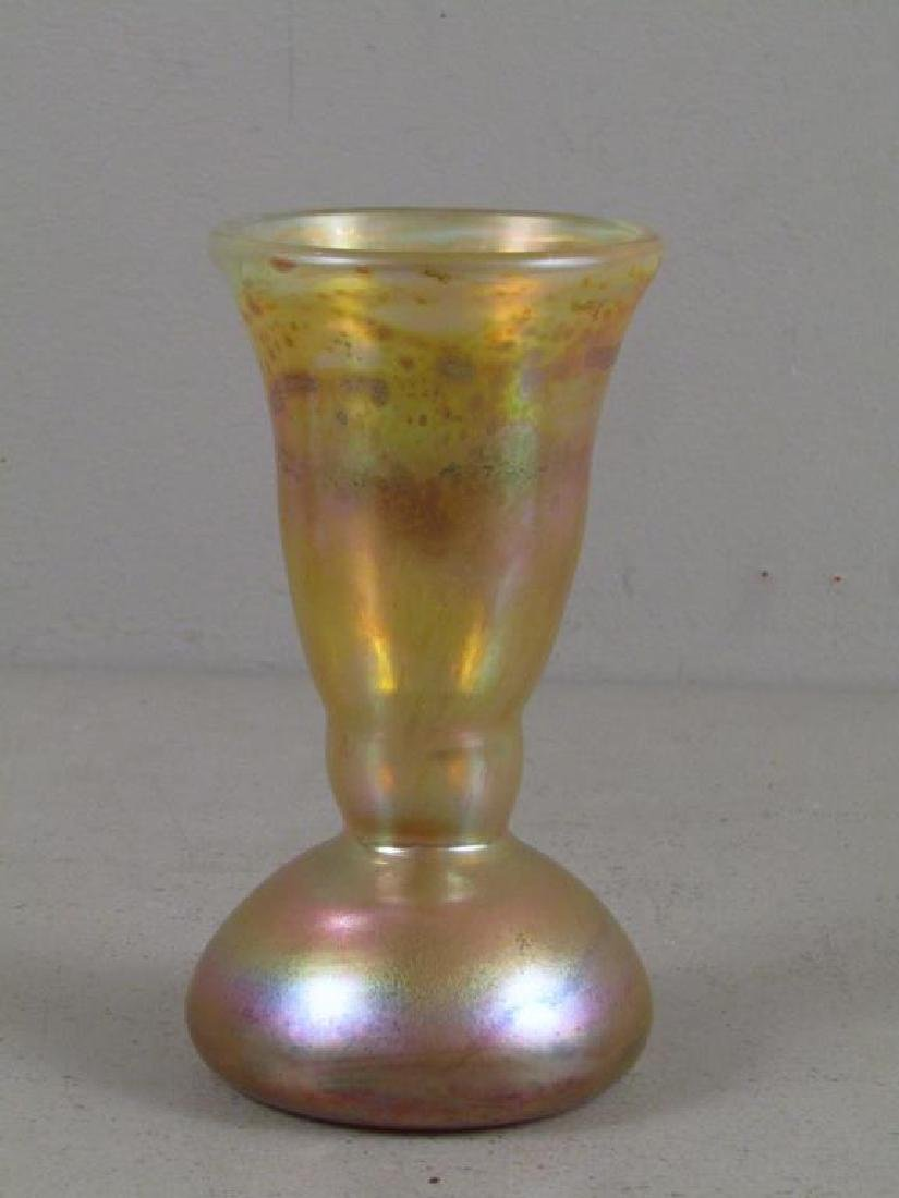2 Richard Eickholt Iridescent Glass Vessels - 6