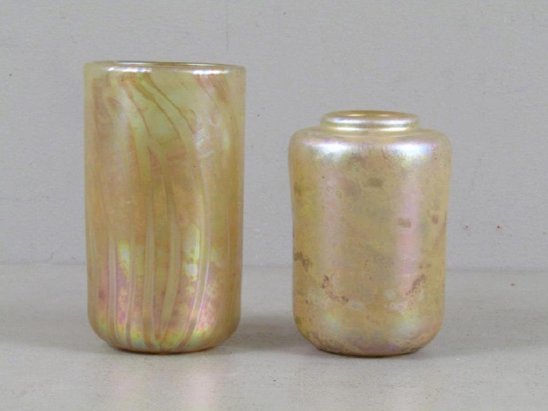 2 Richard Eickholt Iridescent Glass Vessels
