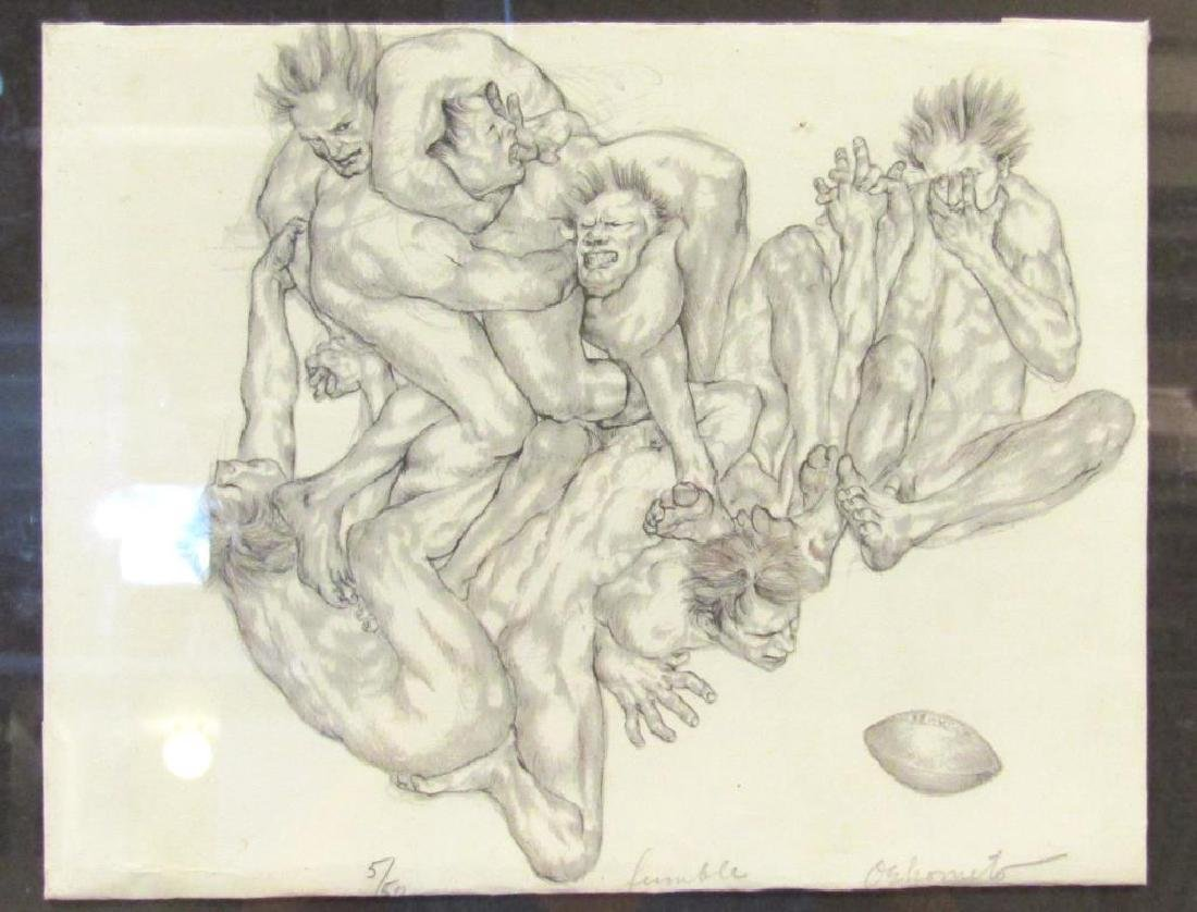 Signed Illegibly - Lithograph
