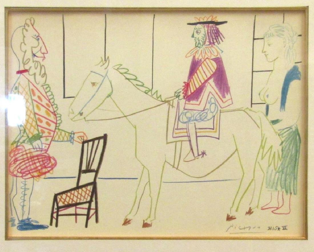 After Pablo Picasso - Lithograph