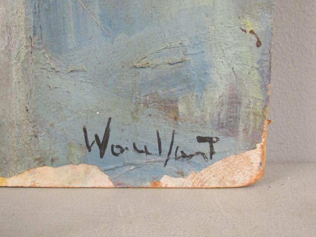 Signed Illegibly- Oil on Artist Board - 4