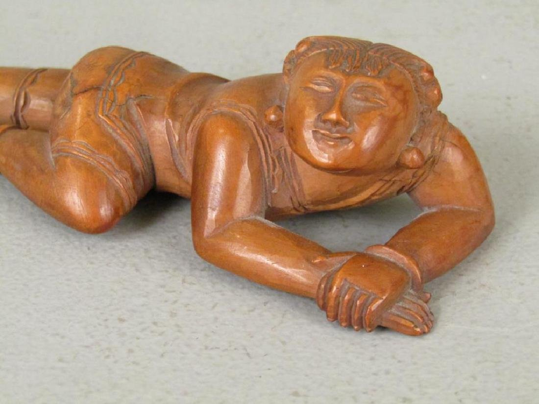 3 Chinese Carved Wood Figures - 4