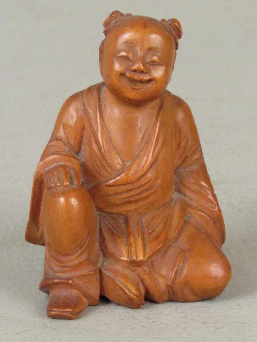 3 Chinese Carved Wood Figures - 7