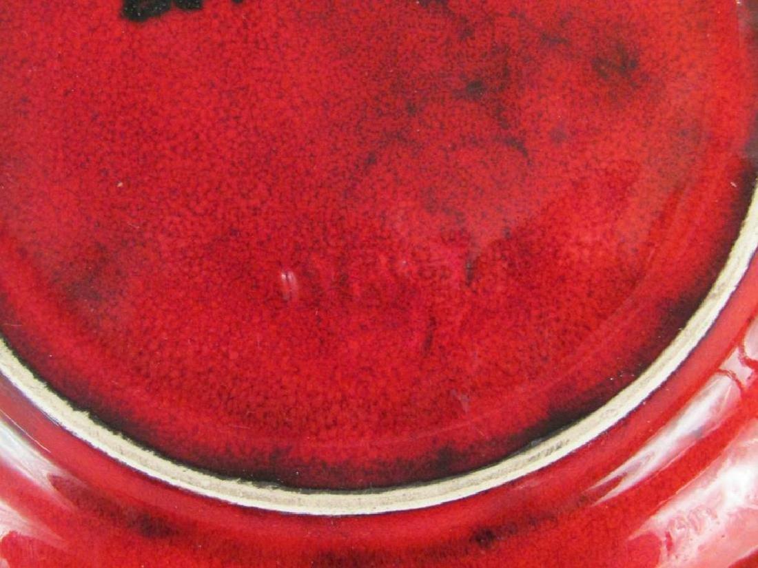 Italian Red Glazed Ceramic Serving Set - 6