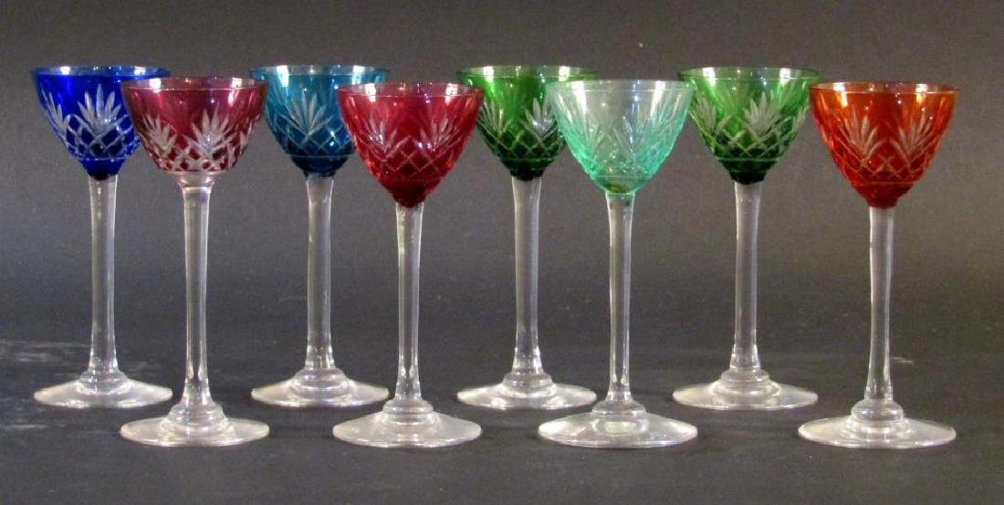 Set of 8 Color to Clear Glass Stems