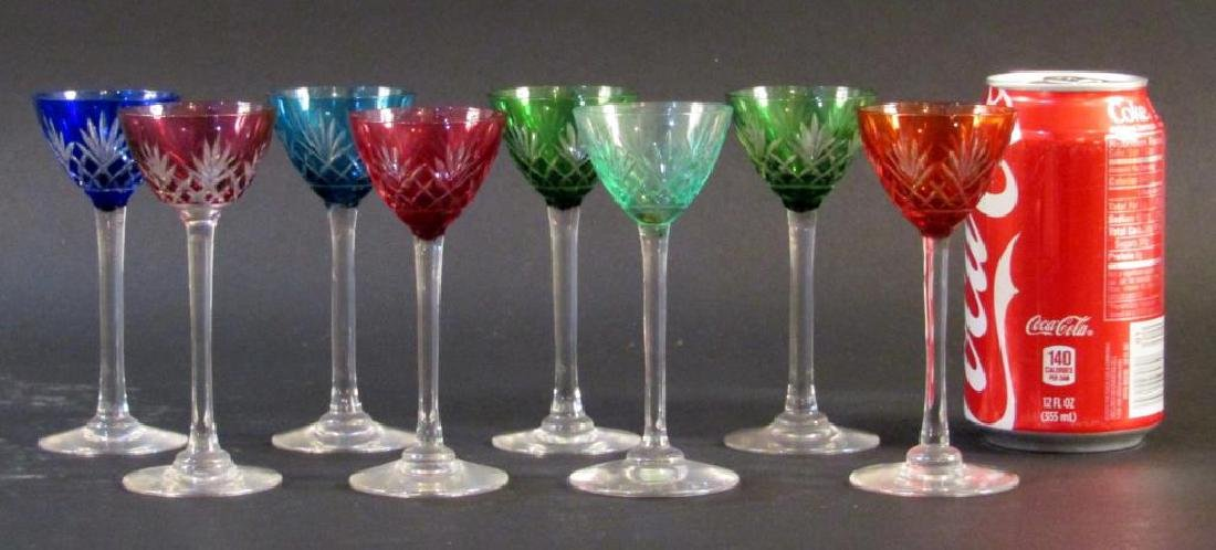 Set of 8 Color to Clear Glass Stems - 2