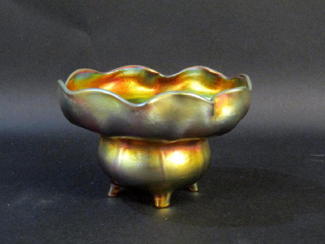 Tiffany Favrille Footed Bowl (as is)