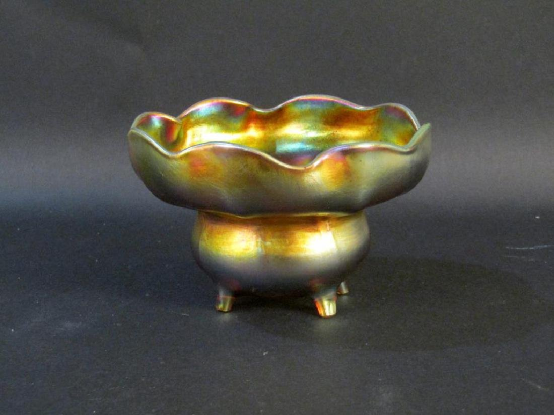 Tiffany Favrille Footed Bowl (as is) - 2