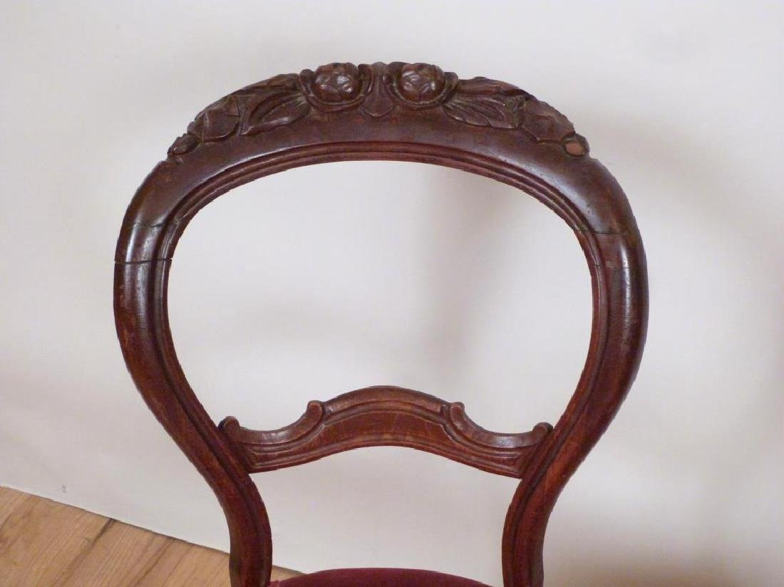 Pair Vintage Victorian Style Side Chairs - 3