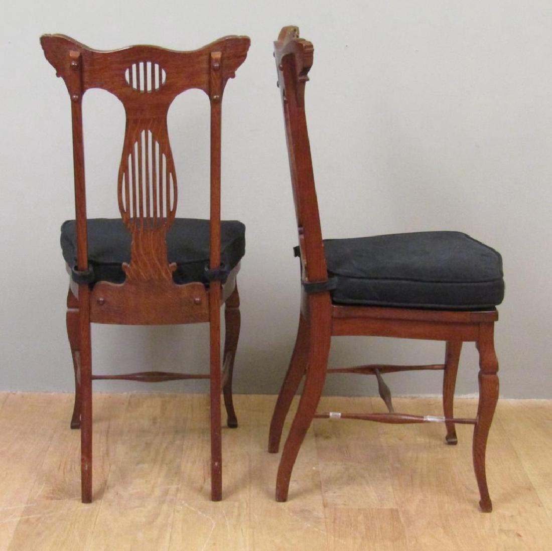 Pair American Oak Side Chairs - 2