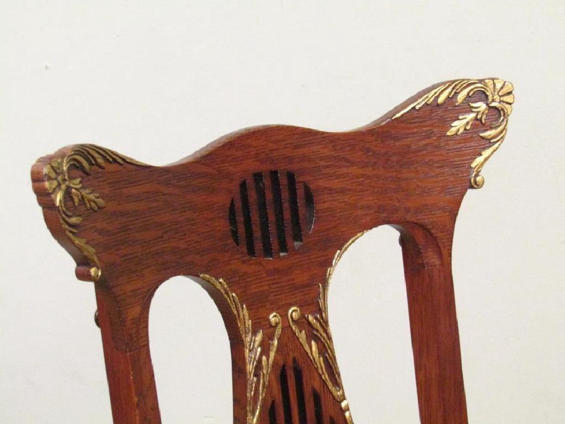 Pair American Oak Side Chairs - 3