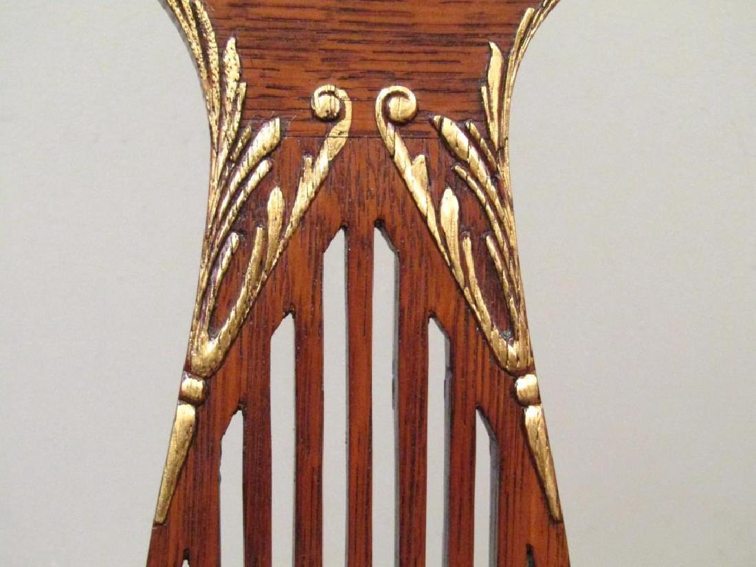 Pair American Oak Side Chairs - 4