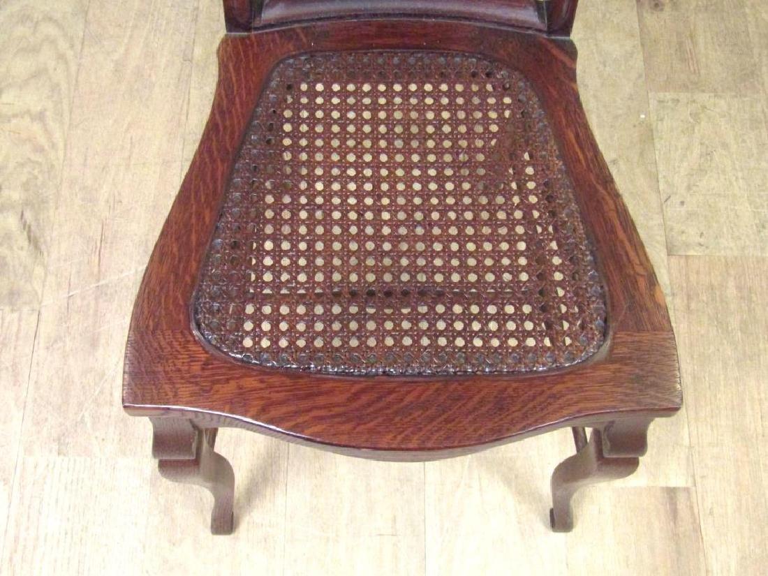 Pair American Oak Side Chairs - 5