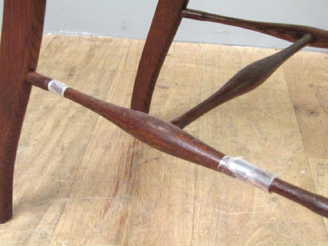Pair American Oak Side Chairs - 7