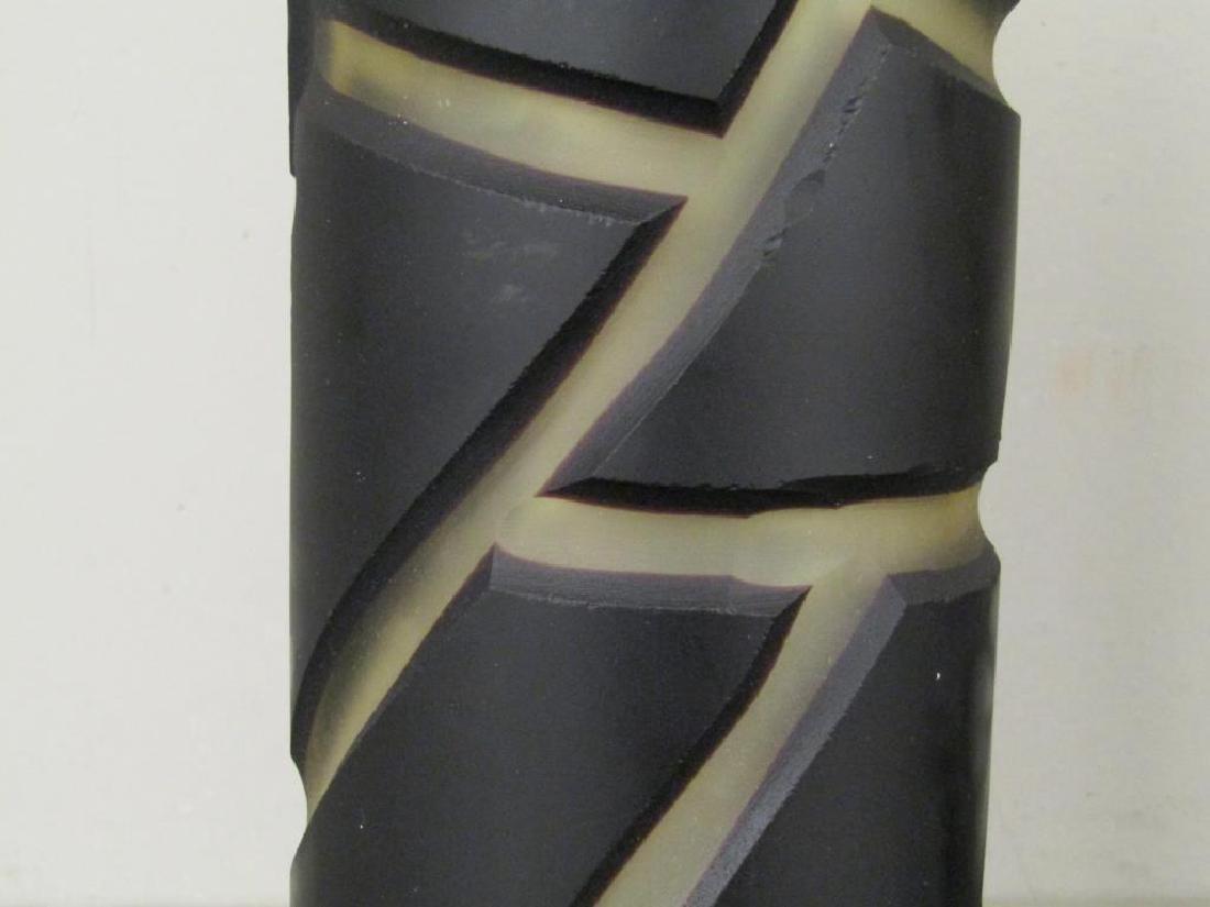 Pair Vivarini Murano Glass Column Lamps - 5