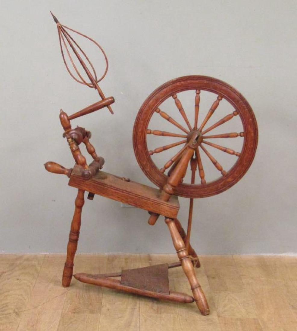 Antique American Spinning Wheel