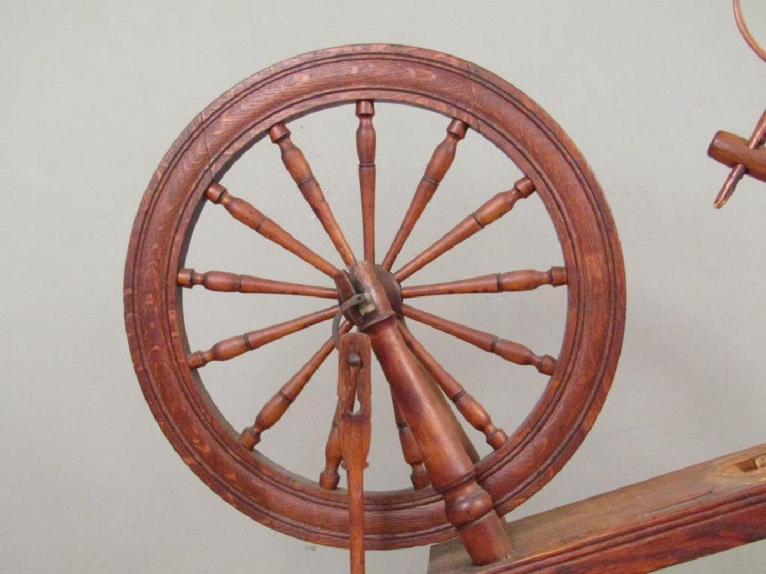 Antique American Spinning Wheel - 3