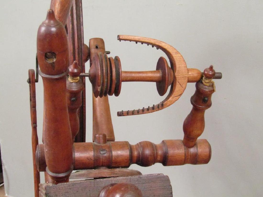 Antique American Spinning Wheel - 4