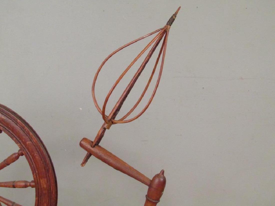 Antique American Spinning Wheel - 5
