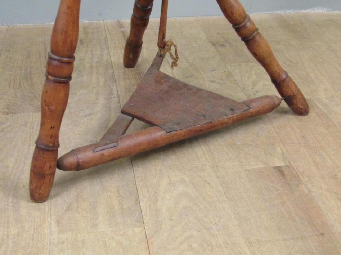 Antique American Spinning Wheel - 6