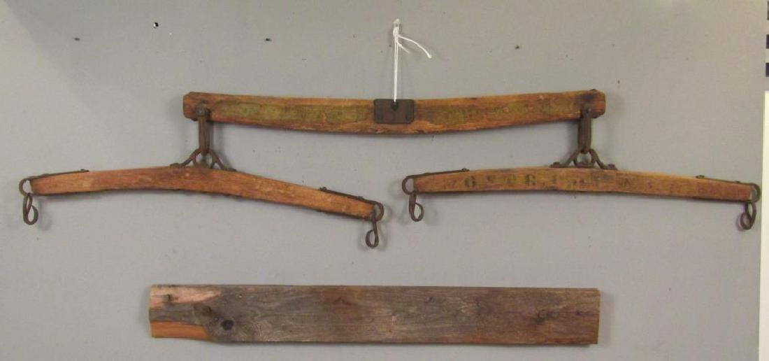 Antique Yoke And a Coat Rack